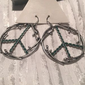 Pieced peace earrings 💕